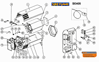 Sure Flame SE405 parts layout 110