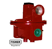 Fisher R522BGJ gas regulator