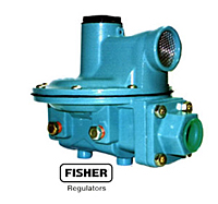Fisher R522BCF gas regulator