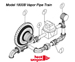 Heat Wagon 1800B Vapor pipe train parts 2014
